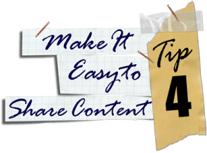 Make it easy to share your content on social media