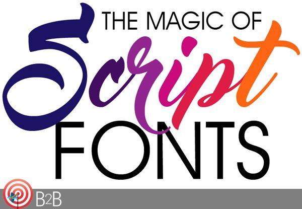 The Magic of Script Fonts social media post sample